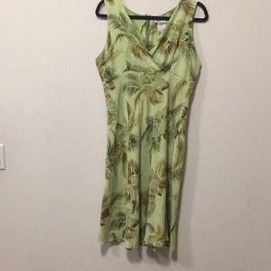 Green Floral Summer Dress-Size L